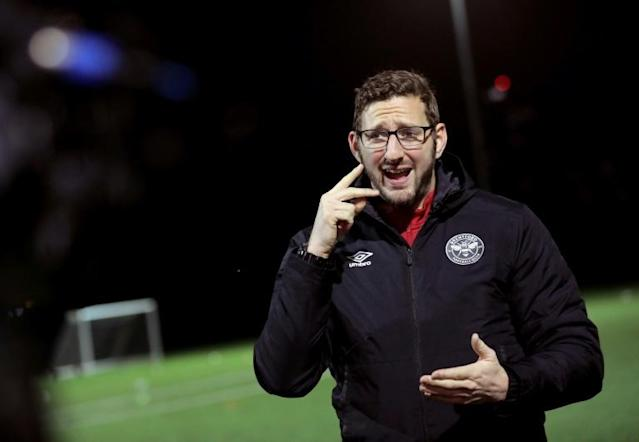 Ben Lampert is a coach with England's deaf football team and Brentford FC Community Sports Trust (AFP Photo/Isabel INFANTES)