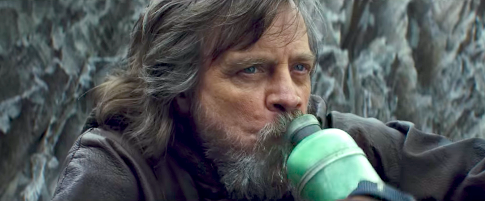 Hamill as Luke Skywalker in Star Wars: The Last Jedi (Credit: Disney/Lucasfilm)