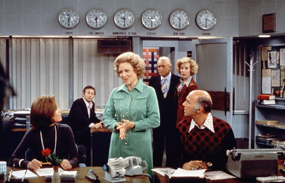 """<p>Before she became sweet Rose, White starred as the perky, sexy and mischievous Sue Ann Nivens on <em>The Mary Tyler Moore Show</em>. Sue Ann hosted the """"The Happy Homemaker"""", and flirted her way through all the single men in Minneapolis. </p>"""