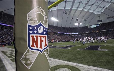 The NFL recognizes Veterans Day at Vikings game in Minneapolis