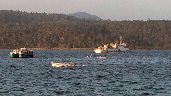 In a massive storm in the past 24 hours, three fishing trawlers have reportedly sunk in the Bay of Bengal.