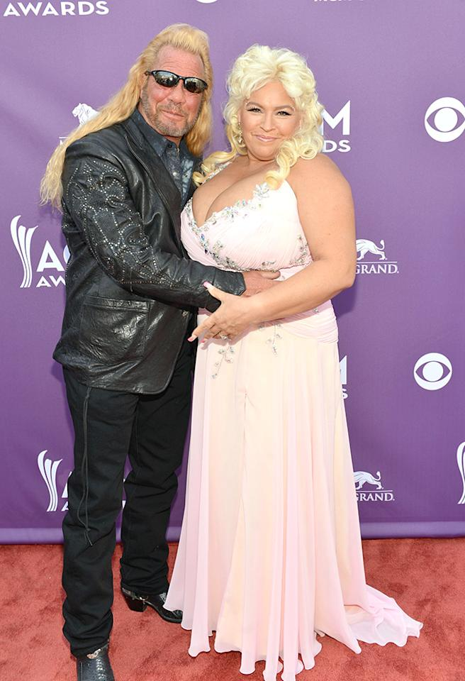 "LAS VEGAS, NV - APRIL 07:  (L-R) TV personalities  Duane ""Dog"" Chapman and Beth Smith attend the 48th Annual Academy of Country Music Awards at the MGM Grand Garden Arena on April 7, 2013 in Las Vegas, Nevada.  (Photo by Rick Diamond/ACMA2013/Getty Images for ACM)"