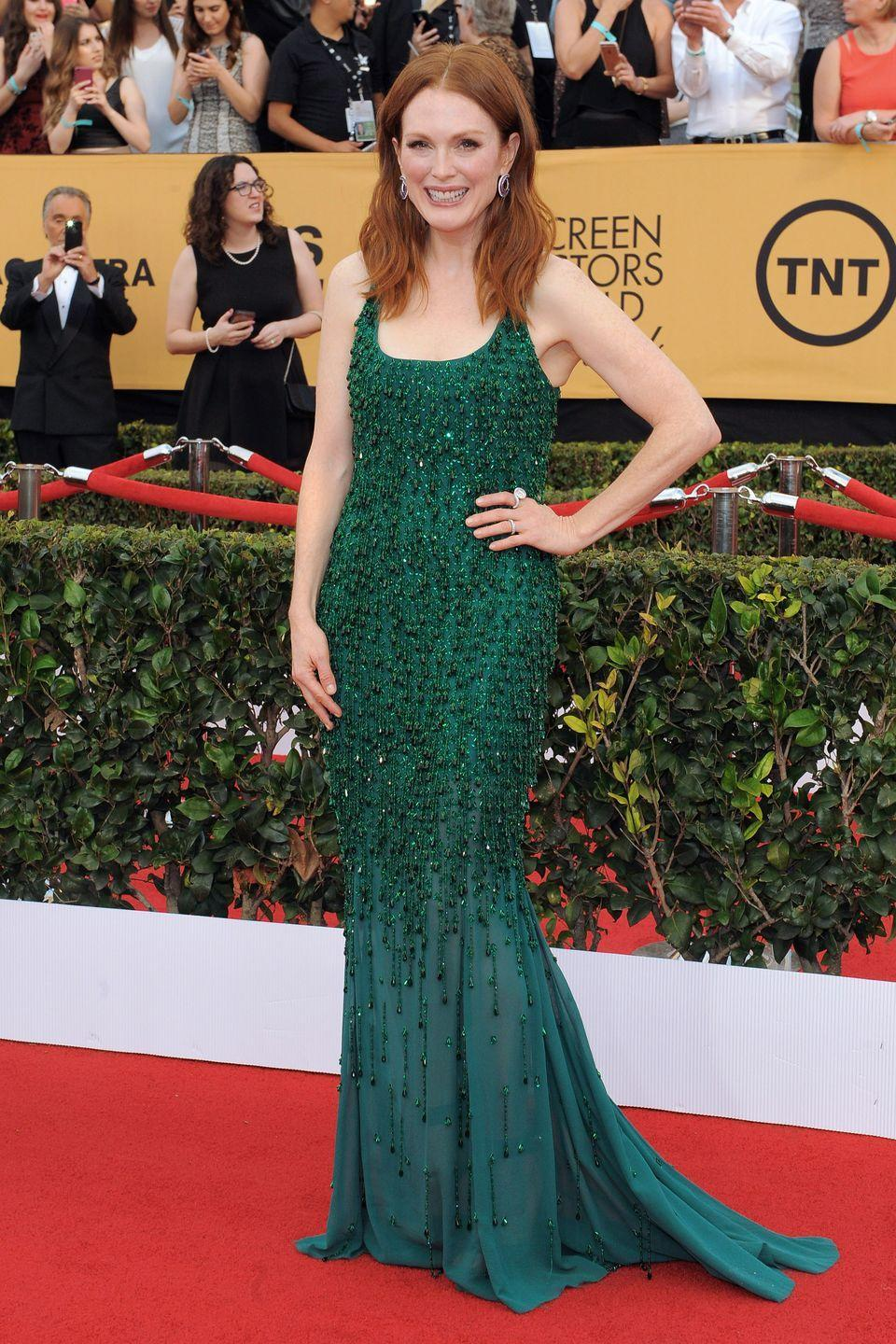 <p>While a <em>Brave</em> sequel hasn't been released (yet!), Merida would probably look like Julianne Moore in this emerald green Givenchy dress when she grows up to be the queen.</p>