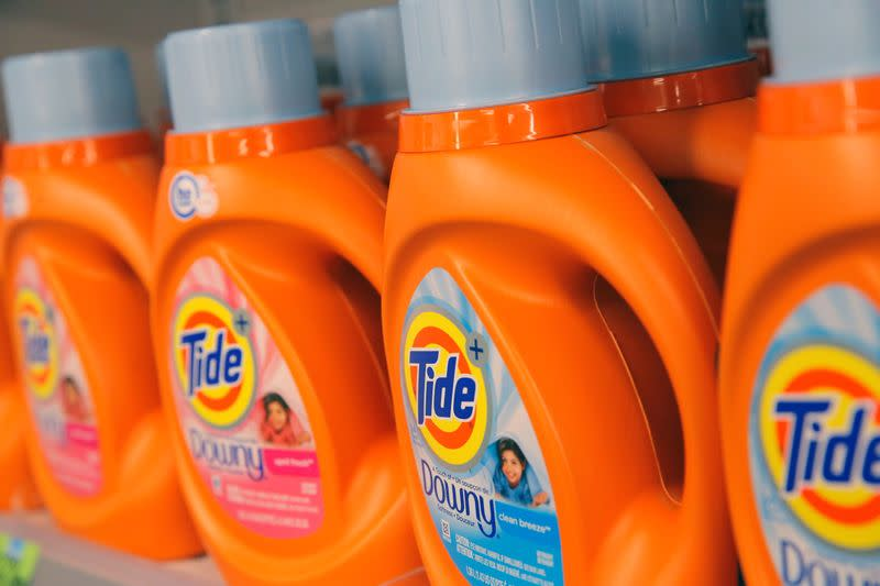 FILE PHOTO: Procter & Gamble's Tide is seen in a store in Manhattan, New York, U.S.