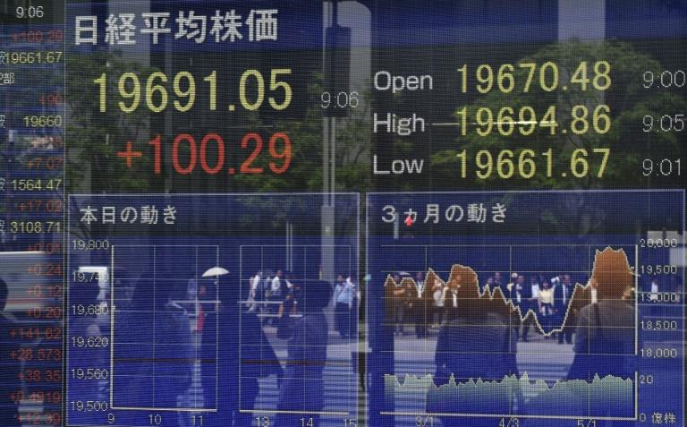 Tokyo stocks opened flat on Thursdayas investors focused on prospects for US interest rates after a widely expected June hike