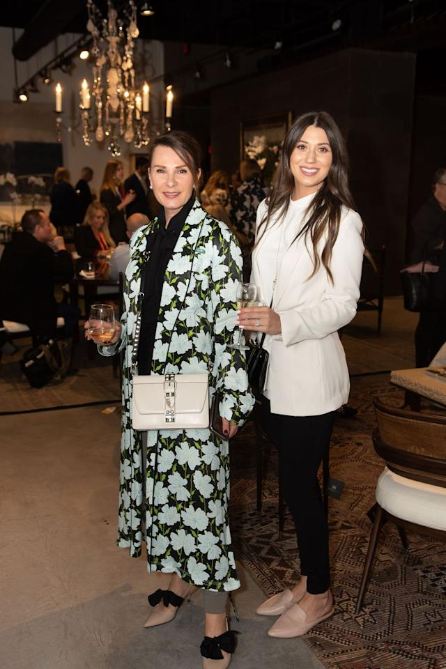 <p>Guests enjoy custom cocktails and a preview of Alfonso Marina's new collection</p>