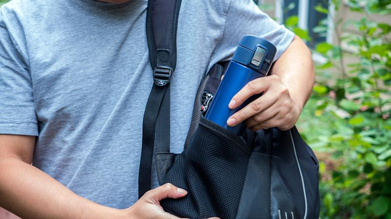 Only the black model is on sale, but we love this travel mug in any color!