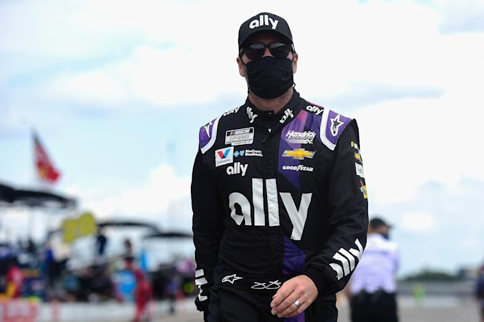 Jimmie Johnson became the first NASCAR driver to announce he had tested positive for the coronavirus on Friday.