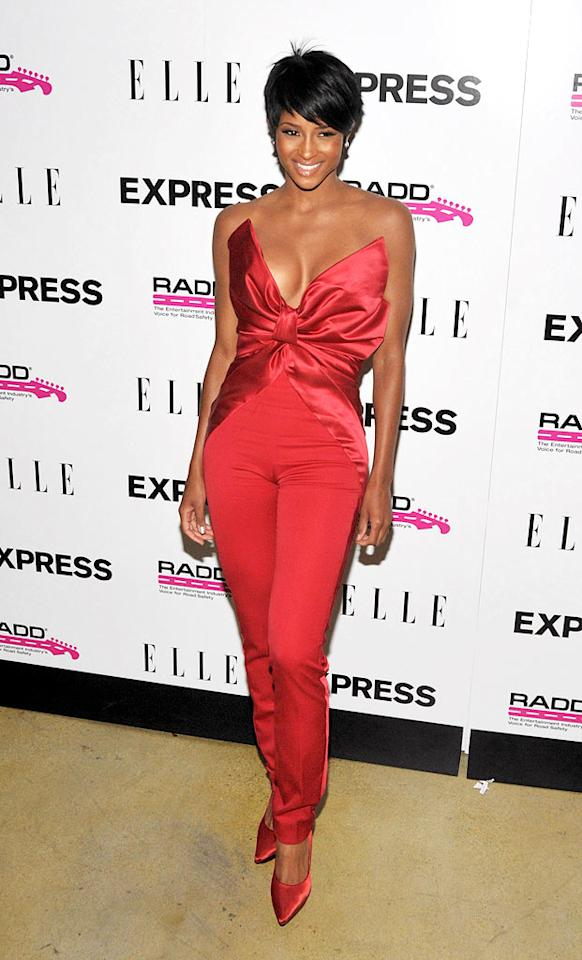 """Ciara's scarlet jumpsuit ... FAIL! Dr. Billy Ingram/<a href=""""http://www.wireimage.com"""" target=""""new"""">WireImage.com</a> - July 29, 2009"""