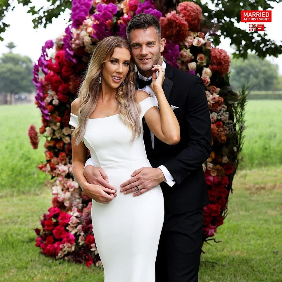 Rebecca Zemek and her 'groom' Jake Edwards on MAFS