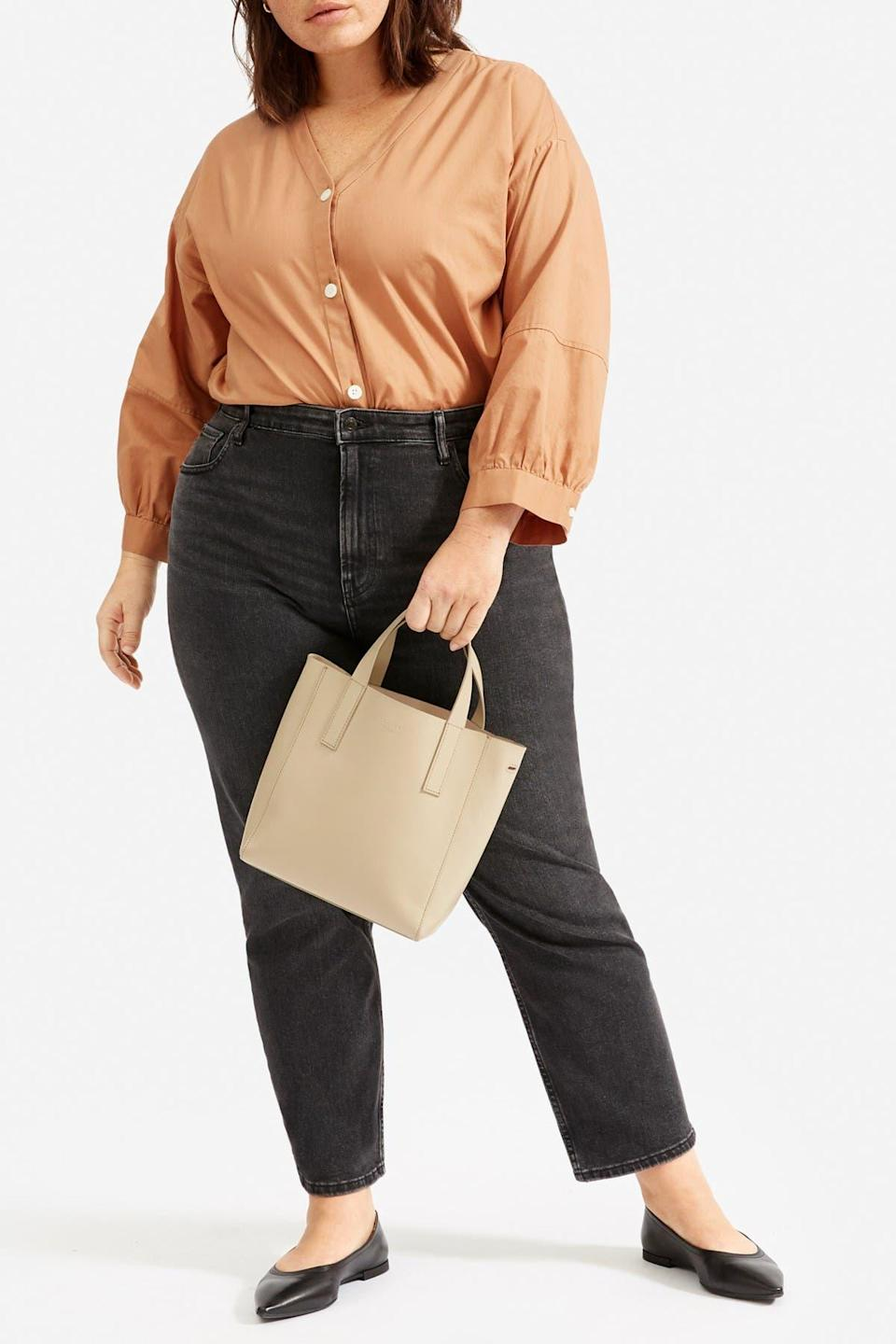 "<br><br><strong>Everlane</strong> The Silky Cotton Silky Lantern Top, $, available at <a href=""https://go.skimresources.com/?id=30283X879131&url=https%3A%2F%2Fwww.nordstromrack.com%2Fs%2Feverlane-the-silky-cotton-silky-lantern-top%2Fn3358072"" rel=""nofollow noopener"" target=""_blank"" data-ylk=""slk:Nordstrom Rack"" class=""link rapid-noclick-resp"">Nordstrom Rack</a>"