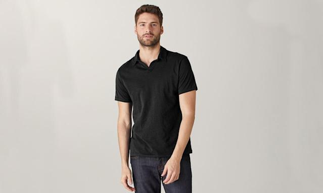 "<p>Clipper Cotton Cashmere Polo Onyx, $55, <a href=""https://naadam.co/products/clipper-cotton-cashmere-polo-onyx"" rel=""nofollow noopener"" target=""_blank"" data-ylk=""slk:naadam.co"" class=""link rapid-noclick-resp"">naadam.co</a> </p>"