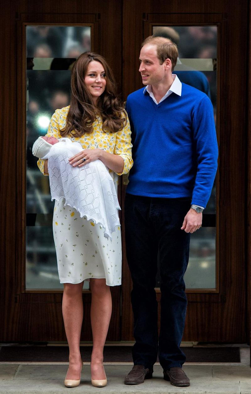 There will however be some traditions they will have to follow. Here they are pictured after the birth of Princess Charlotte. Photo: Getty Images