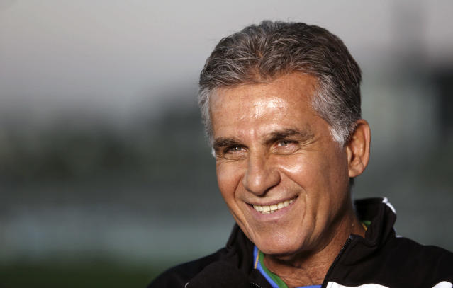 Carlos Queiroz in Sao Paulo, Brazil on June 4, 2014 (AFP Photo/Miguel Schincariol)