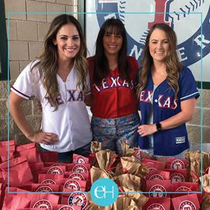 Jenna Mathis, wife of Jeff Mathis, Cori Andrus, wife of Elvis Andrus, Bailey Springs, wife of Jeffrey Springs