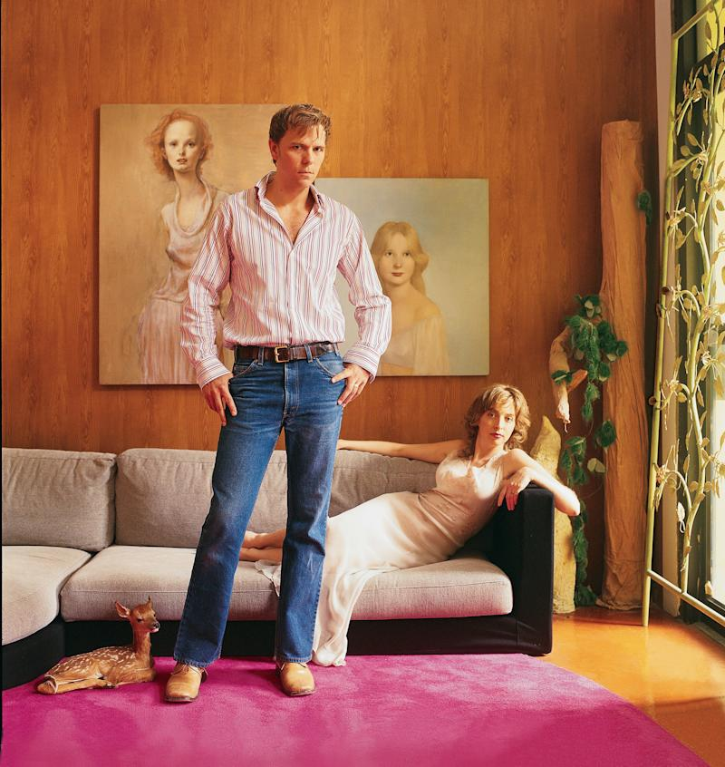 John Currin and Rachel Feinstein, photographed for Vogue around the time of Currin's last museum show, a mid-career retrospective at the Whitney.