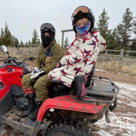 <p>The proud father of two shared photos of his wife Pink, daughter Willow and son Jameson spending some quality family time together outdoors.</p>