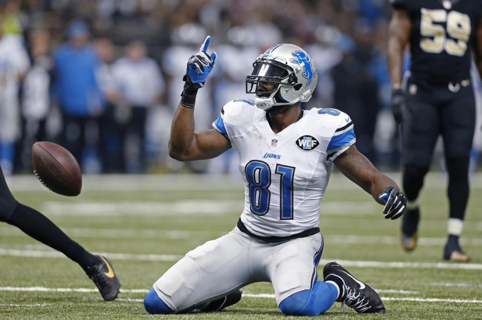Detroit Lions wide receiver Calvin Johnson's early retirement complicated his legacy. (AP Photo/Jonathan Bachman)