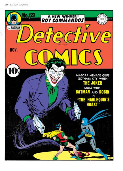 """FILE - In this undated photo originally provided by DC Comics shows the issue 69 cover of """"The Batman Detective Comics,"""" featuring notorious villan The Joker. The character has been captivating audiences since he was established as the murderous yin to the Batman's yang in 1940 by DC Comics writers Bob Kane and Bill Finger with artist Jerry Robinson. (AP Photo/DC Comics, Jerry Robinson)"""
