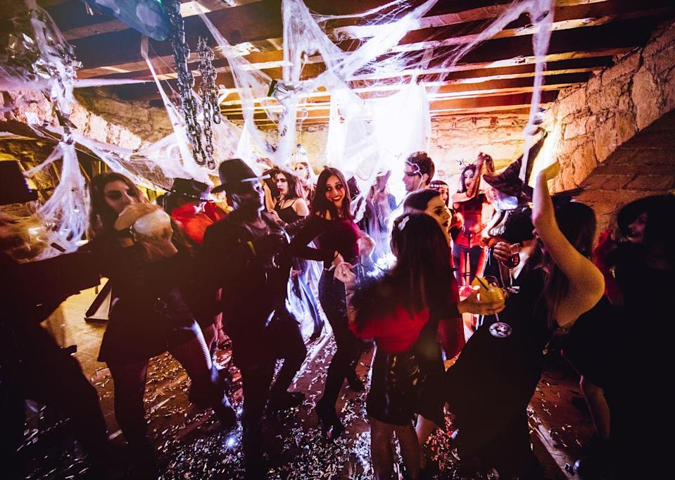 """<p>When's the last time you went to a dance party? Host a monster mash of your own this Halloween—it's a theme that works for both kids and adults. (Just make sure<a href=""""https://www.oprahmag.com/entertainment/g28117133/best-halloween-songs/"""" rel=""""nofollow noopener"""" target=""""_blank"""" data-ylk=""""slk:the music is good"""" class=""""link rapid-noclick-resp""""> the music is good</a>!)</p><p><a class=""""link rapid-noclick-resp"""" href=""""https://www.amazon.com/NuLink-Disco-Light-Mirror-Hanging/dp/B074WGSF3M/ref=sr_1_4?tag=syn-yahoo-20&ascsubtag=%5Bartid%7C10072.g.28787574%5Bsrc%7Cyahoo-us"""" rel=""""nofollow noopener"""" target=""""_blank"""" data-ylk=""""slk:SHOP DISCO BALLS"""">SHOP DISCO BALLS</a></p>"""