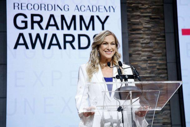 PHOTO: Then-Recording Academy president and CEO Deborah Dugan Speaks at the 62nd Grammy Awards Nominations at CBS Broadcast Center on Nov. 20, 2019 in New York. (WireImage/Getty Images, FILE)