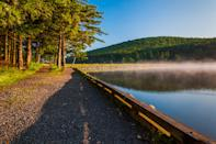 <p><strong>Best camping in West Virginia:</strong> Spruce Knob Lake Campground </p> <p>With commanding views of 4,863-foot Spruce Knob, West Virginia's highest peak, this lakeside campground is one of the prettiest spots in the state. Over 60 miles of trails in the dense Monongahela National Forest, easy boating access, and plentiful summer huckleberries, picked right off the bush, keep families coming back year after year.</p>