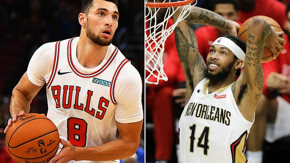 Chicago's Zach LaVine, pictured left, and New Orlean's Brandon Ingram, right, have value in later rounds of your Fantasy draft.