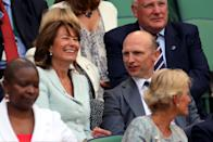 OK, so she's not a royal herself, but the future Queen's mother Carole Middleton bagged a seat by former rugby player Matt Dawson in the royal box at the Wimbledon Championships in June 2014. (Gareth Fuller/PA Wire)