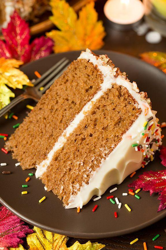 """<p>Any excuse to eat cream cheese frosting, tho.</p><p>Get the recipe from <a href=""""http://www.cookingclassy.com/2015/09/autumn-spice-cake-with-cream-cheese-frosting/"""" rel=""""nofollow noopener"""" target=""""_blank"""" data-ylk=""""slk:Cooking Classy"""" class=""""link rapid-noclick-resp"""">Cooking Classy</a>.</p>"""