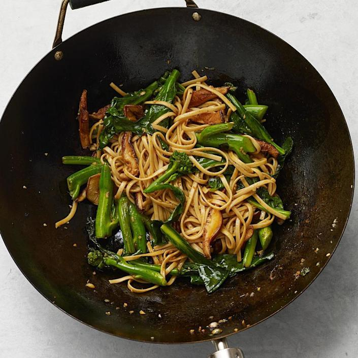<p>Skip takeout and make a healthier Chinese lo mein at home that's packed with vegetables. Make sure you drain your noodles well before adding them, as wet noodles will turn your stir-fry into a soggy mess. For a less spicy option, omit the sriracha hot sauce.</p>