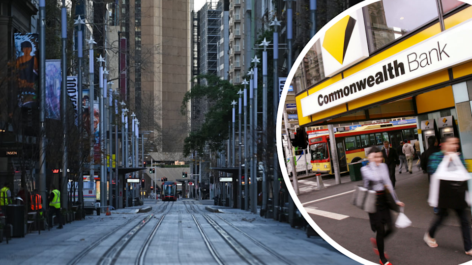 Economists are revising down growth forecasts as NSW's lockdown is extended. (Source: Getty)