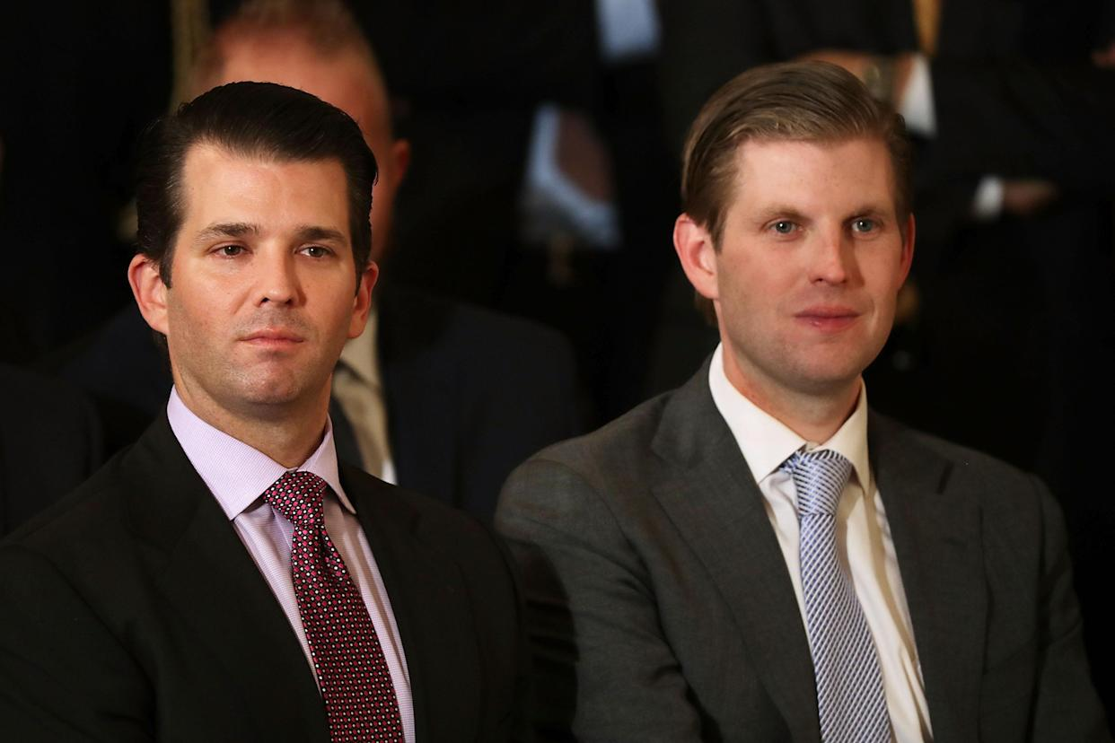 Donald Trump Jr., left, and Eric Trump. (Photo: Chip Somodevilla/Getty Images)