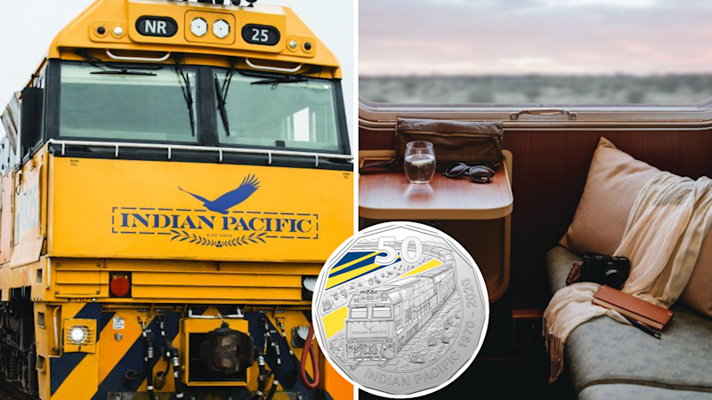 The iconic four-day train journey has been commemorated by the Royal Australian Mint. (Source: TravelOnline, supplied)