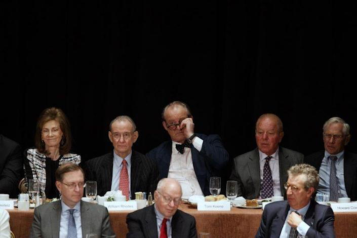 Members of the Economic Club of New York listen to Donald Trump's proposals. (Photo: Evan Vucci/AP)