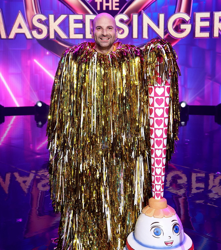 George Calombaris as The Duster on The Masked Singer.