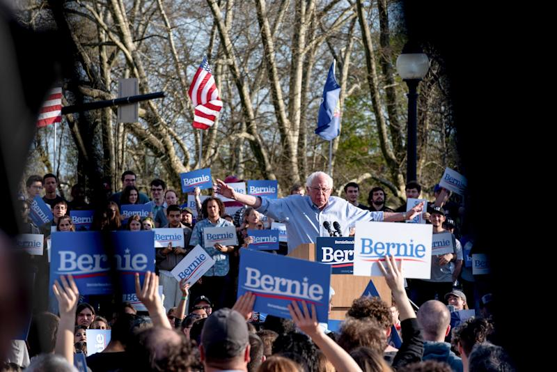 If Sanders becomes president, he'll rely on a lot more rallies like this one in Pittsburgh to build support for his agenda. (Photo: SOPA Images via Getty Images)