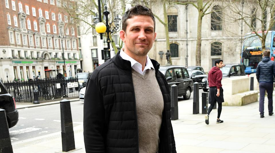 Alex Reid seen outside the High Court in London, before the ruling on damages in acase between himself and Katie Price. (Photo by Ian West/PA Images via Getty Images)
