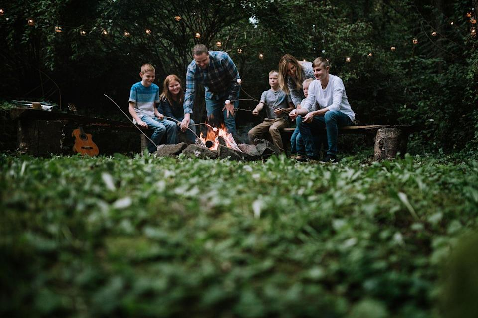 """<p>It's not a 4th of July celebration without a campfire and <a href=""""https://www.goodhousekeeping.com/food-recipes/a27544231/smores-dip-foil-packs-recipe/"""" rel=""""nofollow noopener"""" target=""""_blank"""" data-ylk=""""slk:some s'mores"""" class=""""link rapid-noclick-resp"""">some s'mores</a>! If you can't make it to a real campsite this year, try a little <a href=""""https://www.goodhousekeeping.com/life/parenting/g27287900/best-camping-games-activities/"""" rel=""""nofollow noopener"""" target=""""_blank"""" data-ylk=""""slk:backyard camping"""" class=""""link rapid-noclick-resp"""">backyard camping</a> instead — just set up a tent (along with a great cookout, of course), and cap off the night with some scary stories around the fire.</p><p><a class=""""link rapid-noclick-resp"""" href=""""https://www.amazon.com/Coleman-2-Person-Sundome-Tent-Green/dp/B004J2KDH0/ref=sr_1_3?dchild=1&keywords=tents&qid=1590596772&sr=8-3&tag=syn-yahoo-20&ascsubtag=%5Bartid%7C10055.g.21749867%5Bsrc%7Cyahoo-us"""" rel=""""nofollow noopener"""" target=""""_blank"""" data-ylk=""""slk:SHOP TENTS"""">SHOP TENTS</a></p>"""