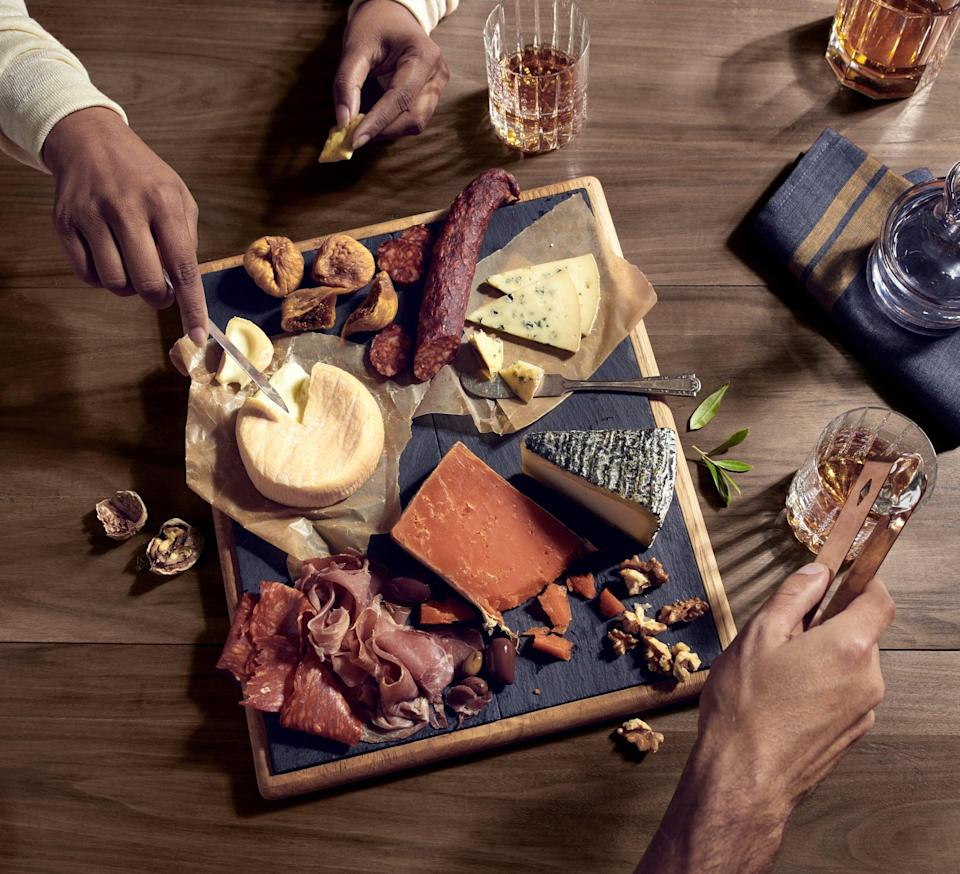 <p>Charcuterie boards are all the rage, so treat yourself to a special night in with a platter of cheeses, meats, and fruits paired with a delicious bottle of red - you won't regret it! </p>