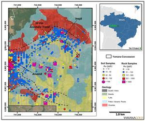Colider project, Brazil. Geology and rock and soil gold geochemistry.