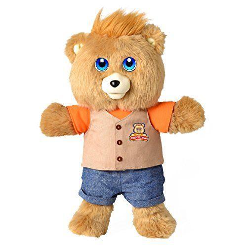 """<p><strong>Teddy Ruxpin</strong></p><p>amazon.com</p><p><strong>$189.99</strong></p><p><a href=""""https://www.amazon.com/dp/B06VVK261Z?tag=syn-yahoo-20&ascsubtag=%5Bartid%7C10055.g.4695%5Bsrc%7Cyahoo-us"""" rel=""""nofollow noopener"""" target=""""_blank"""" data-ylk=""""slk:Shop Now"""" class=""""link rapid-noclick-resp"""">Shop Now</a></p><p>The childhood favorite is back, but now more interactive than ever with an animatronic mouth that syncs to his speech and light up LED eyes. He also <strong>can be linked to an app so that kids can read and sing along with him</strong>. <br></p>"""