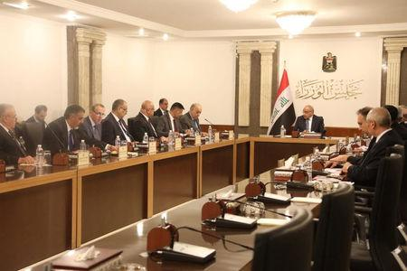 Iraq's Prime Minister-designate Adel Abdul Mahdi holds his first cabinet session in Baghdad