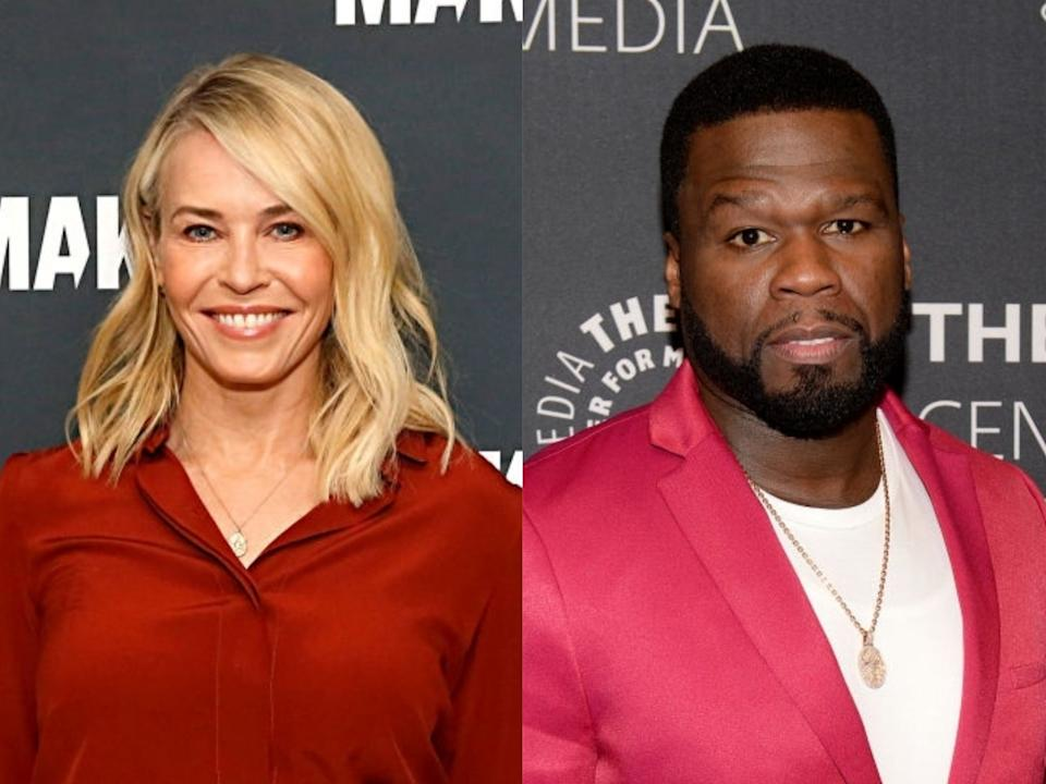 Chelsea Handler and 50 Cent at events in early 2020Rachel Murray/Brad Barket/Getty Images