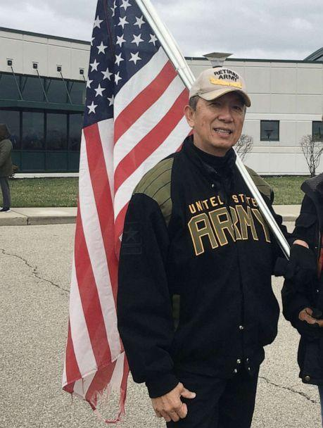 PHOTO: Lee Wong, a Westchester, Ohio board member, shared this photo of himself wearing his U.S. Army jacket and hat. (Courtesy Lee Wong)