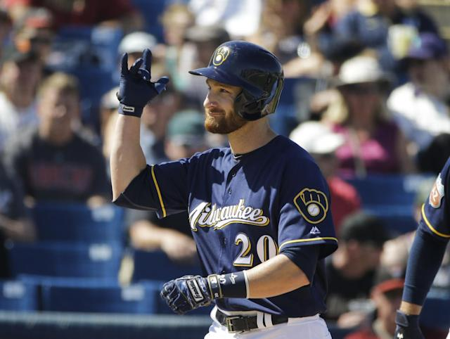 Jonathan Lucroy became a Texas Ranger and a couple of top prospects went back to the Brewers. (AP)