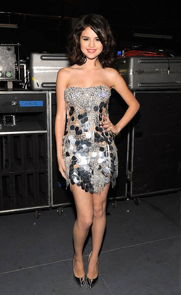 "Pop star Selena Gomez was positively adorable in her shimmering, sequin-adorned Zuhair Murad Spring 2009 Couture dress at the Justin Timberlake & Friends Concert: A Special Evening Benefiting Shriners Hospitals for Children event in Las Vegas Saturday. Frank Micelotta/<a href=""http://www.gettyimages.com/"" target=""new"">GettyImages.com</a> - October 23, 2010"