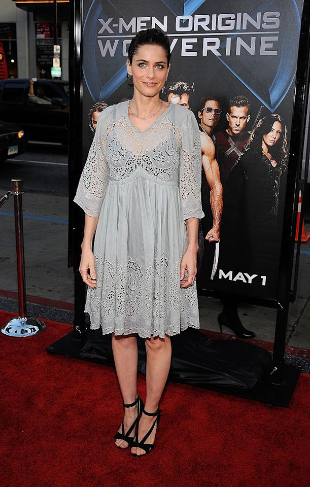"<a href=""http://movies.yahoo.com/movie/contributor/1800018738"">Amanda Peet</a> at the Los Angeles premiere of <a href=""http://movies.yahoo.com/movie/1808665084/info"">X-Men Origins: Wolverine</a> - 04/28/2009"