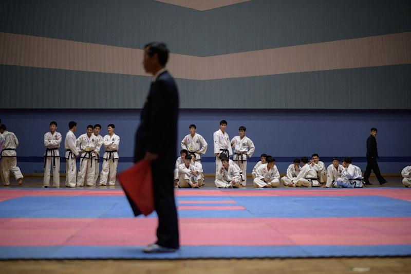 Taekwondo fighters train full-time for provincial teams and dominate their code's version of the world championships (AFP Photo/Ed JONES)