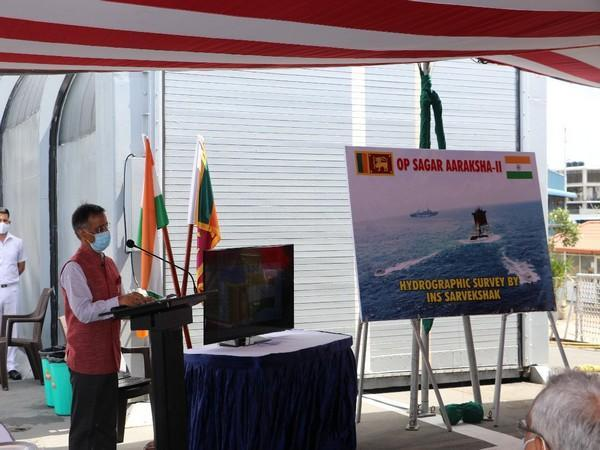 Indian Navy's Hydrographic Survey Ship INS Sarvekshak successfully completed survey action around the MV X-Press Pearl (Photo Credit - Ministry of Defence))