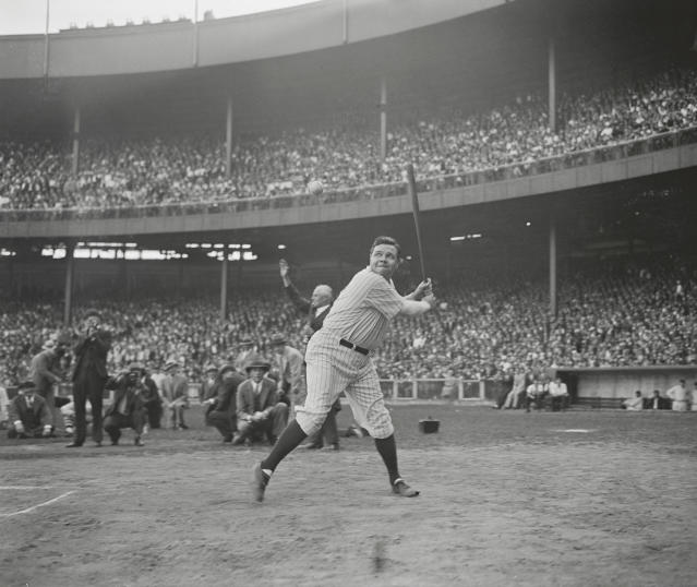 Babe Ruth's record-breaking 500th home run bat is coming up for auction in November. (AP)